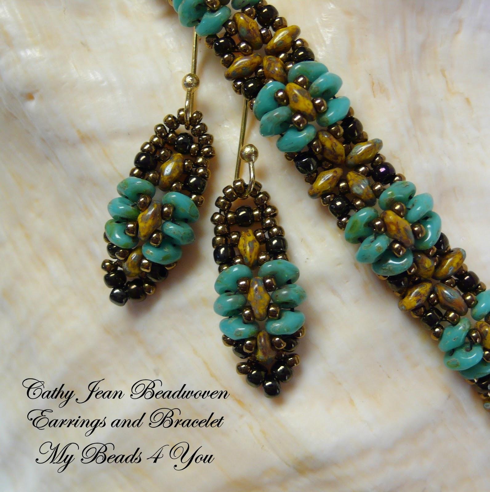 MyBeads4You: Cathy Jean SuperDuo Beadwoven Jewelry