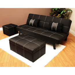 delaney futon sofa bed black