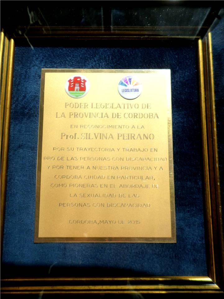 Reconocimiento de la Legislatura de Córdoba