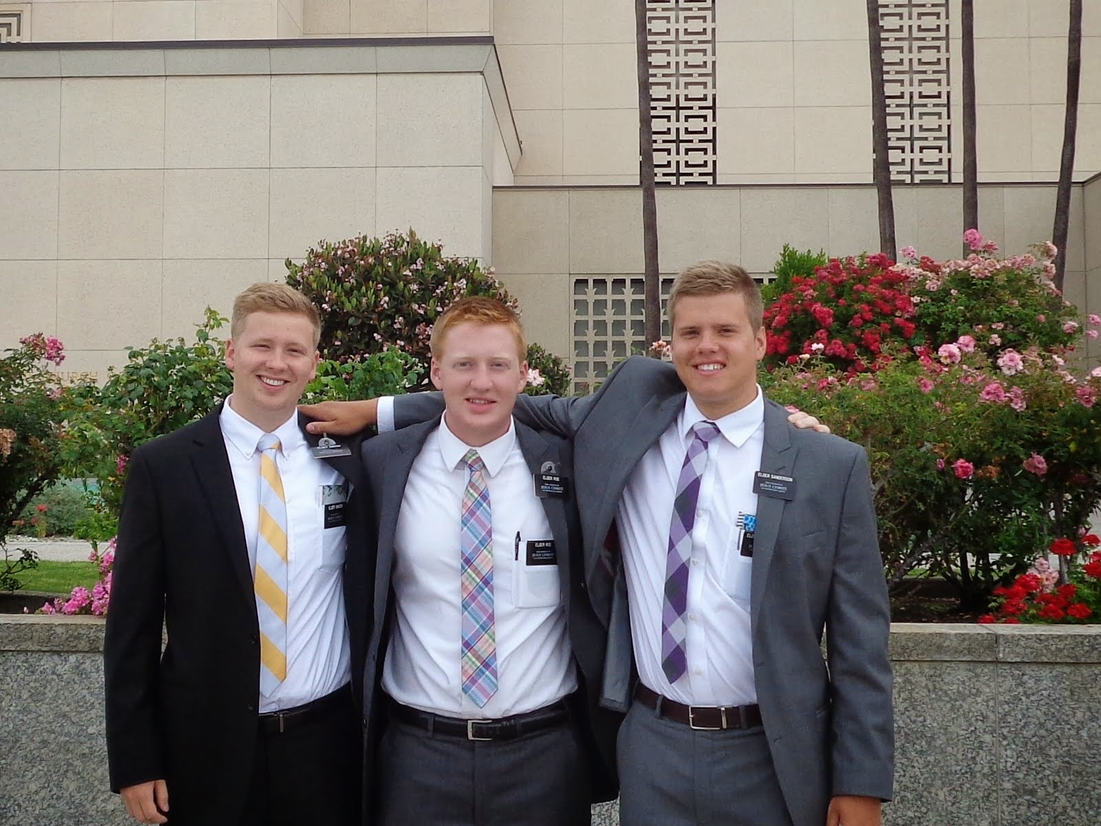 Me, Elder Roe (my son), Elder Gibson (Elder Roe's son)