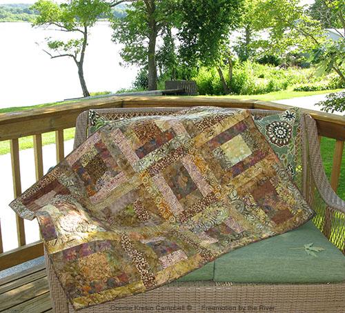 Lap quilt made with batik fabrics