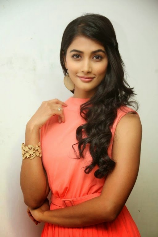 Pooja Hegde Mesmerizing Short Dress Photos at Oka Laila Kosam Prerelease Press Meet