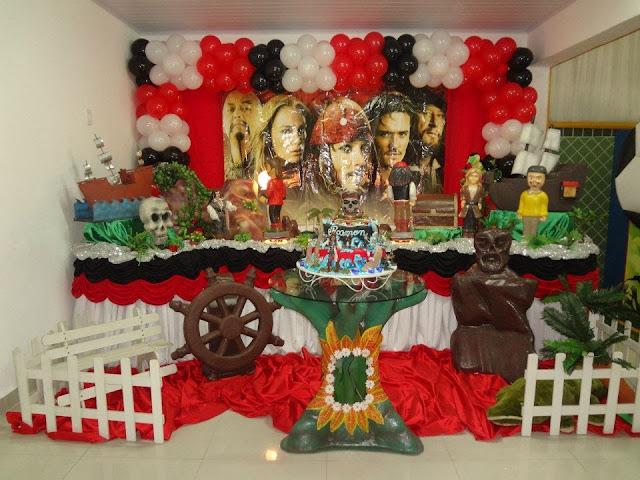 decoração infantil - Piratas do Caribe