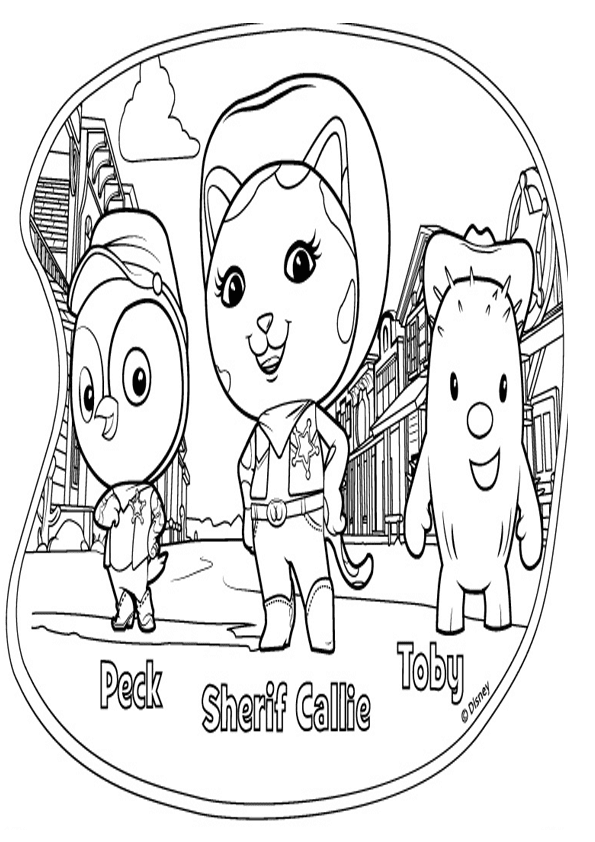 Free coloring pages of sherif callie