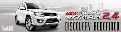 klik gambar untuk informasi harga, brochure , warna, spesifikasi all new grand vitara
