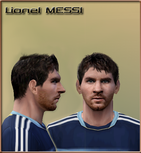 Face PES6 Lionel Messi by Minhanh158 - PES 2012