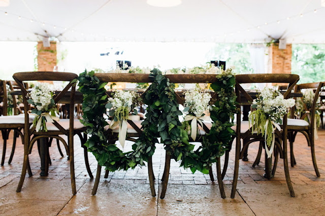 Green Floral Garland Wedding Reception