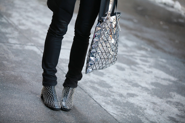 streetstyle, silver shopper, fashion week, new york fashion week, nyfw, diy inspiration
