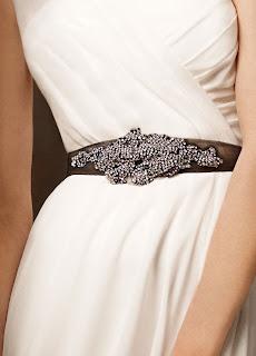 Crystal sash bridal belt-Vera Wang