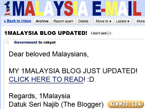 1malaysia email blog update