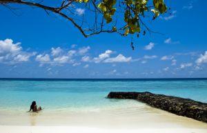Plaża na rajskiej wyspie.