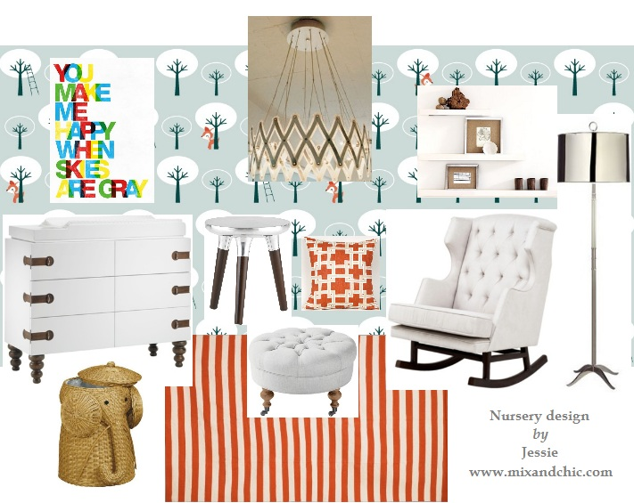 Mix and Chic: Mood board- Modern baby nursery!