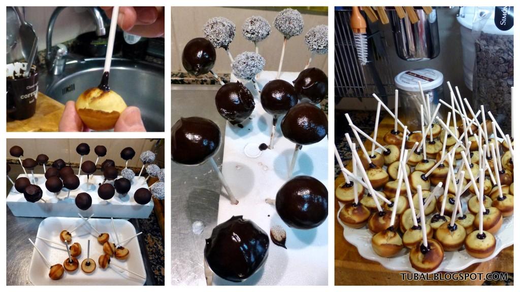 Tubal receta b sica cake pops en m quina for Cobertura para cake pops