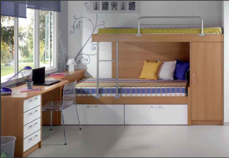 Habitaci n juvenil peque a vicar interiors for Distribucion habitacion juvenil