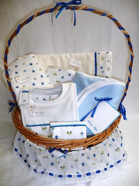 Cestas de mimbre decoradas para bebés - Imagui