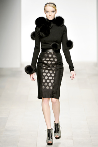 David Koma AW 2011/2012 London Fashion Week width=