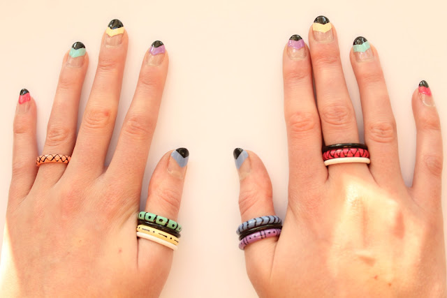 Aztec style rings