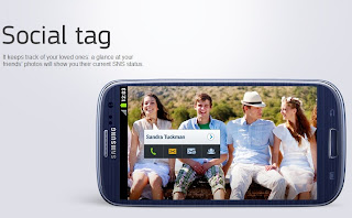 Social tag on the Samsung Galaxy S3