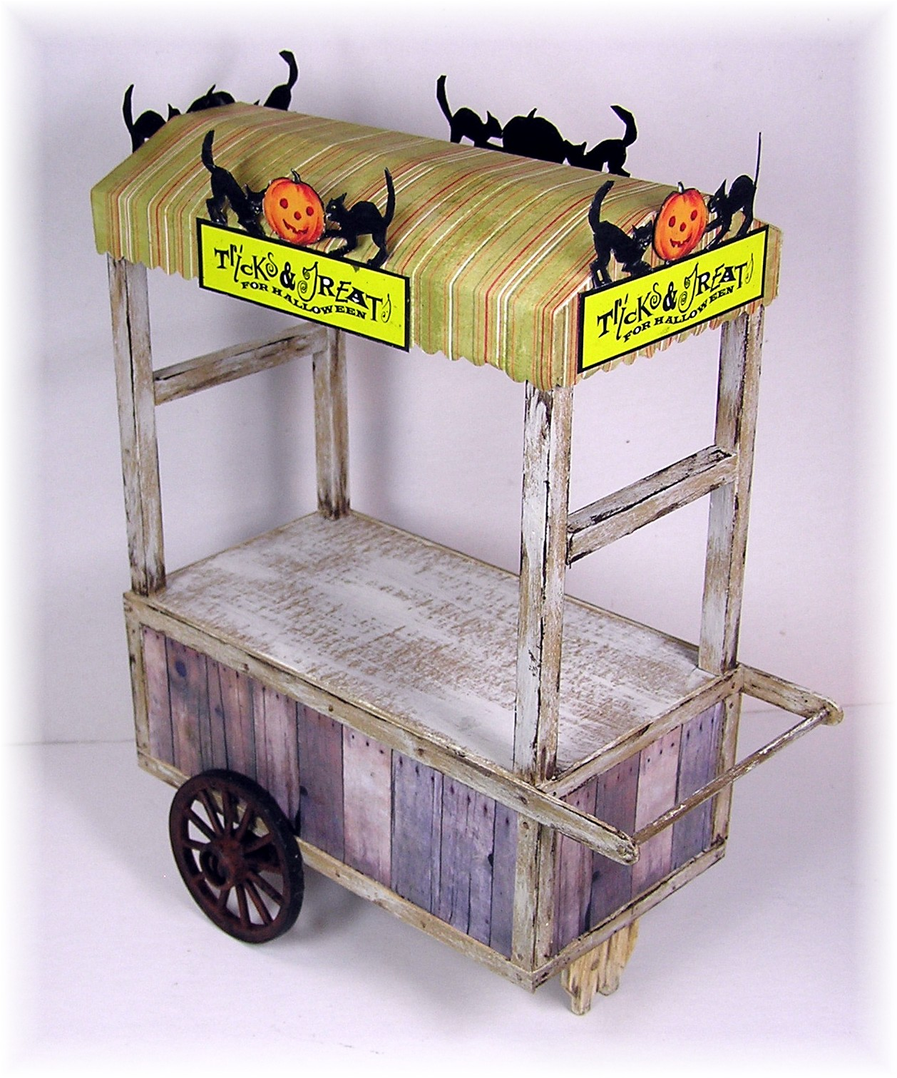A halloween peddler s cart