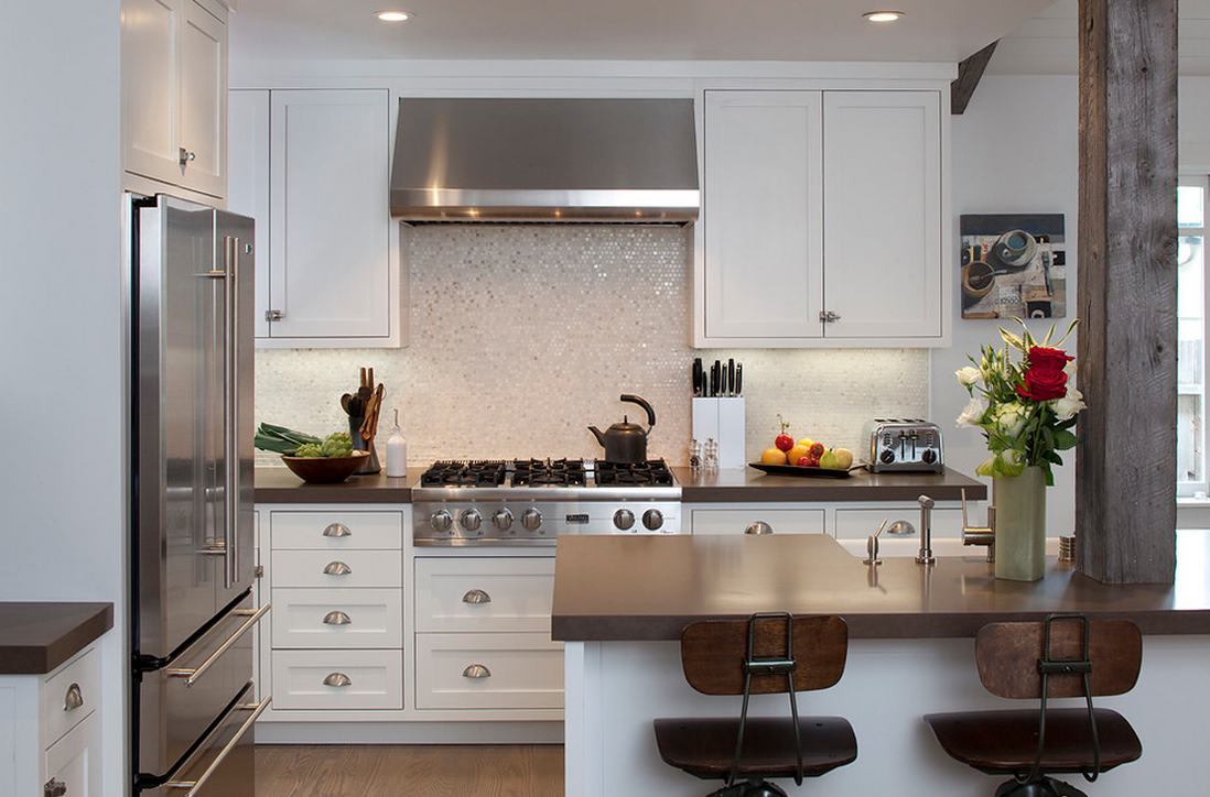 C?mo coordinar las cocinas blancas  How to coordinate white kitchens