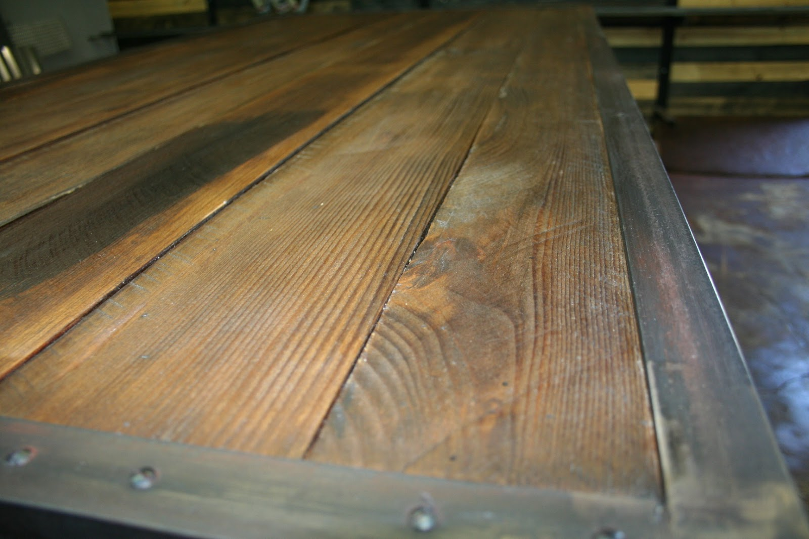Real Industrial Edge Furniture Llc Industrial Reclaimed Wood Dining Table