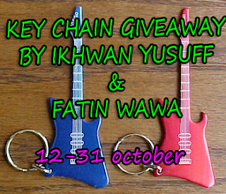 """KEY CHAIN GIVEAWAY BY IKHWAN YUSUFF"""