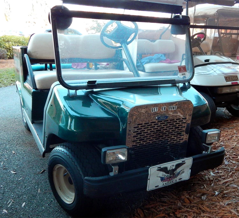 Antiquated Ford Pickup Golf Cart on Club Car Frame
