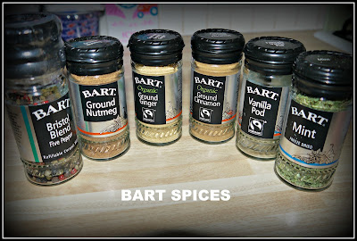 spices, ginger, cinnamon, vanilla, mint, nutmeg