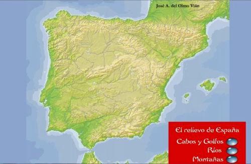 El relieve de España.