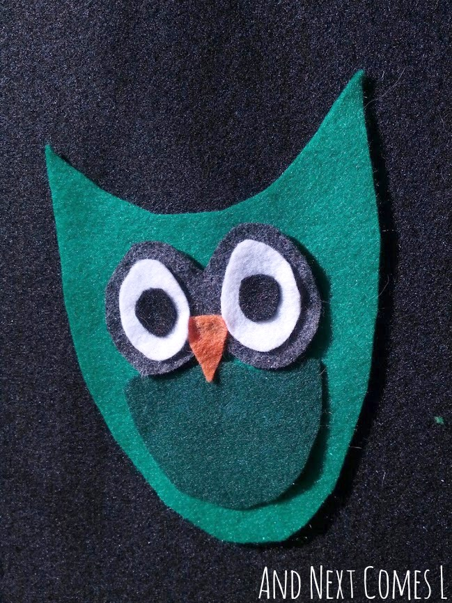 Owl felt board play for kids from And Next Comes L