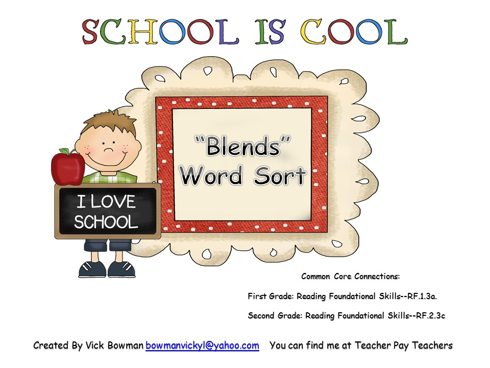 """Blends"" Word Sort"