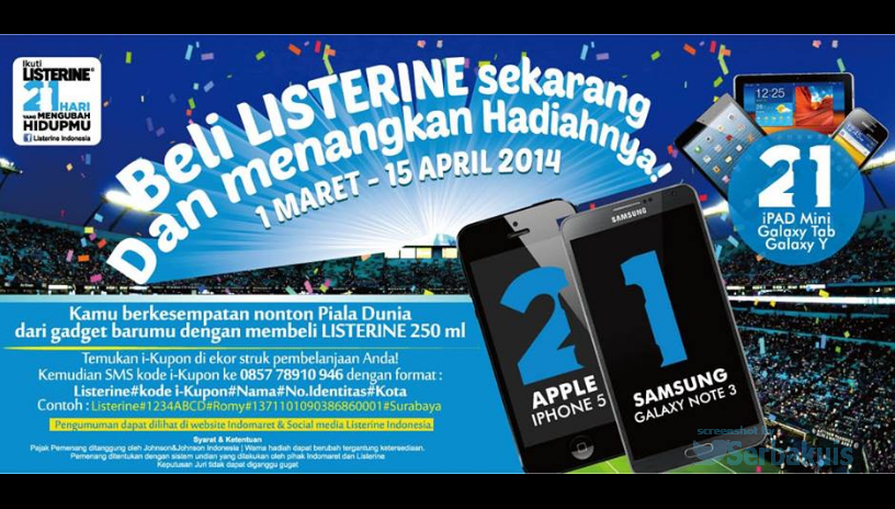 Promo Berhadiah 21 Apple iPad Mini