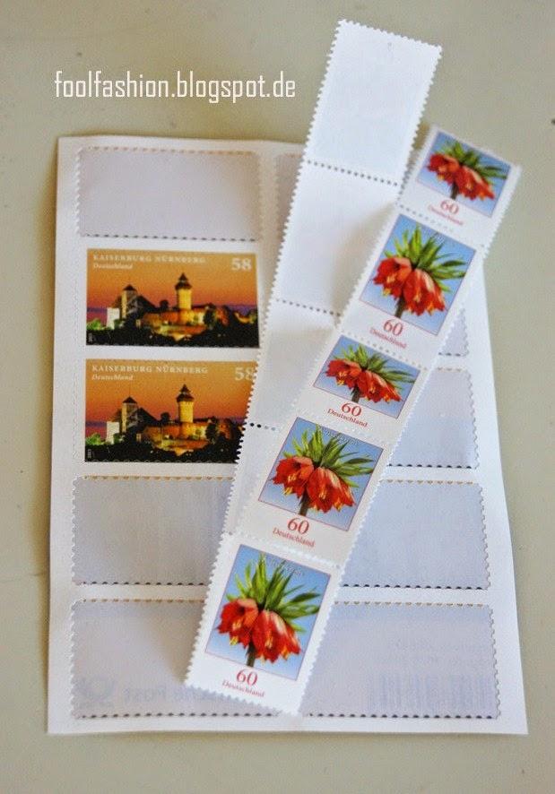 müllfrei Briefe verschicken mit klassischen Marken von der Rolle