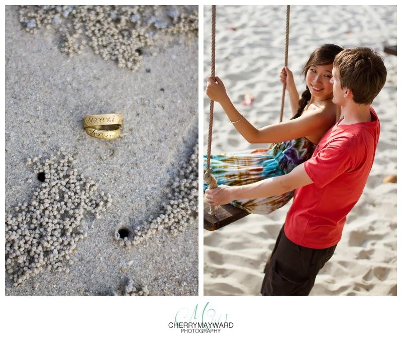 thailand crab holes, faux wedding rings, travel safety, honeymoon safety, happy couple, koh samui photos, thailand photo, thailand wedding photographer, koh samui wedding photographer, honeymoon photography