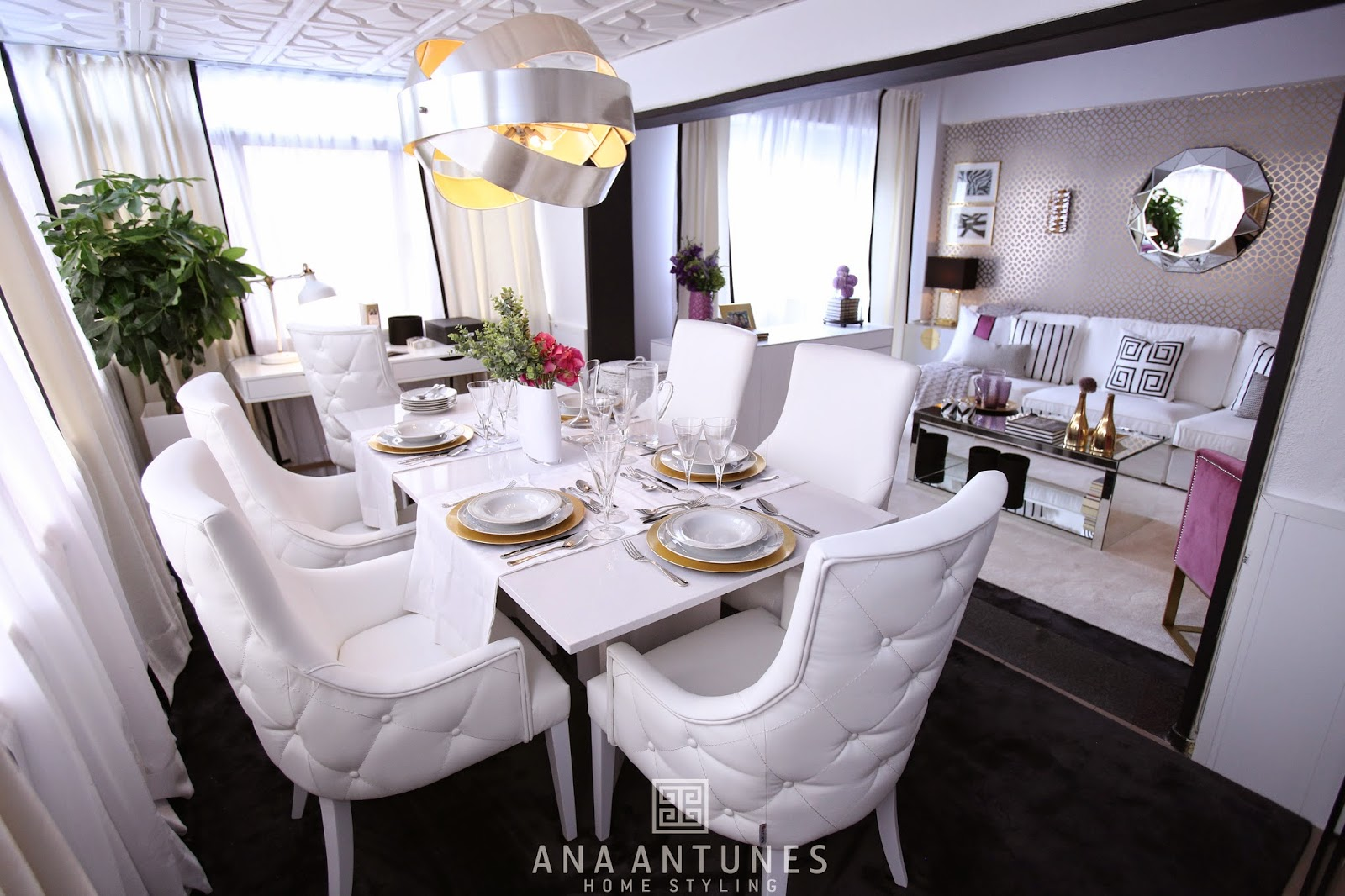home styling ana antunes querido mudei a casa tv show 2314 gold trellis room credits. Black Bedroom Furniture Sets. Home Design Ideas