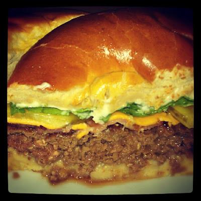 Homemade bacon cheeseburger