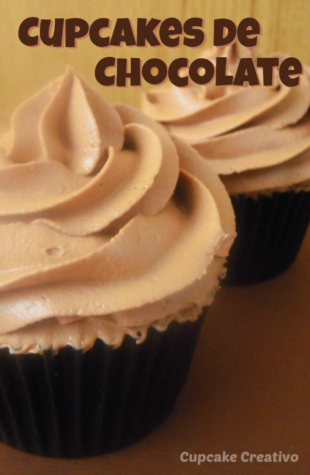 Cupcakes de Chocolate, Buttercream de Chocolate
