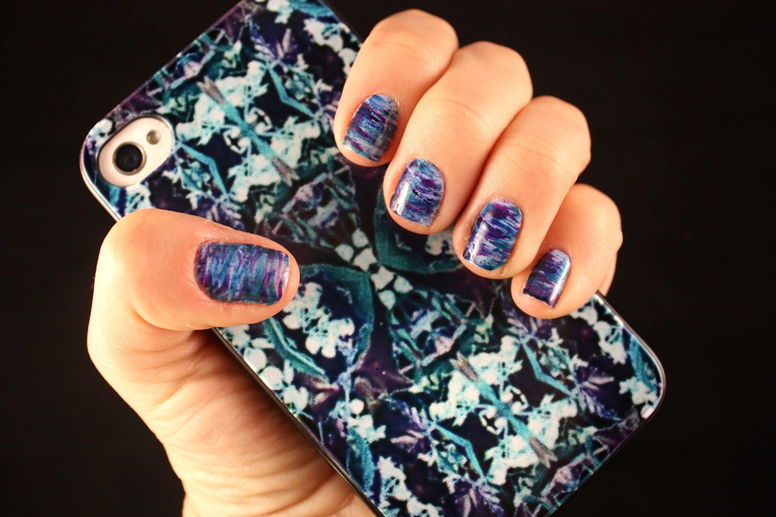 It\'s because I think too much: Jewel Tone Streak Manicure