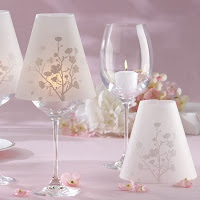 Cherry Blossoms Wine Glass Shade Centerpieces