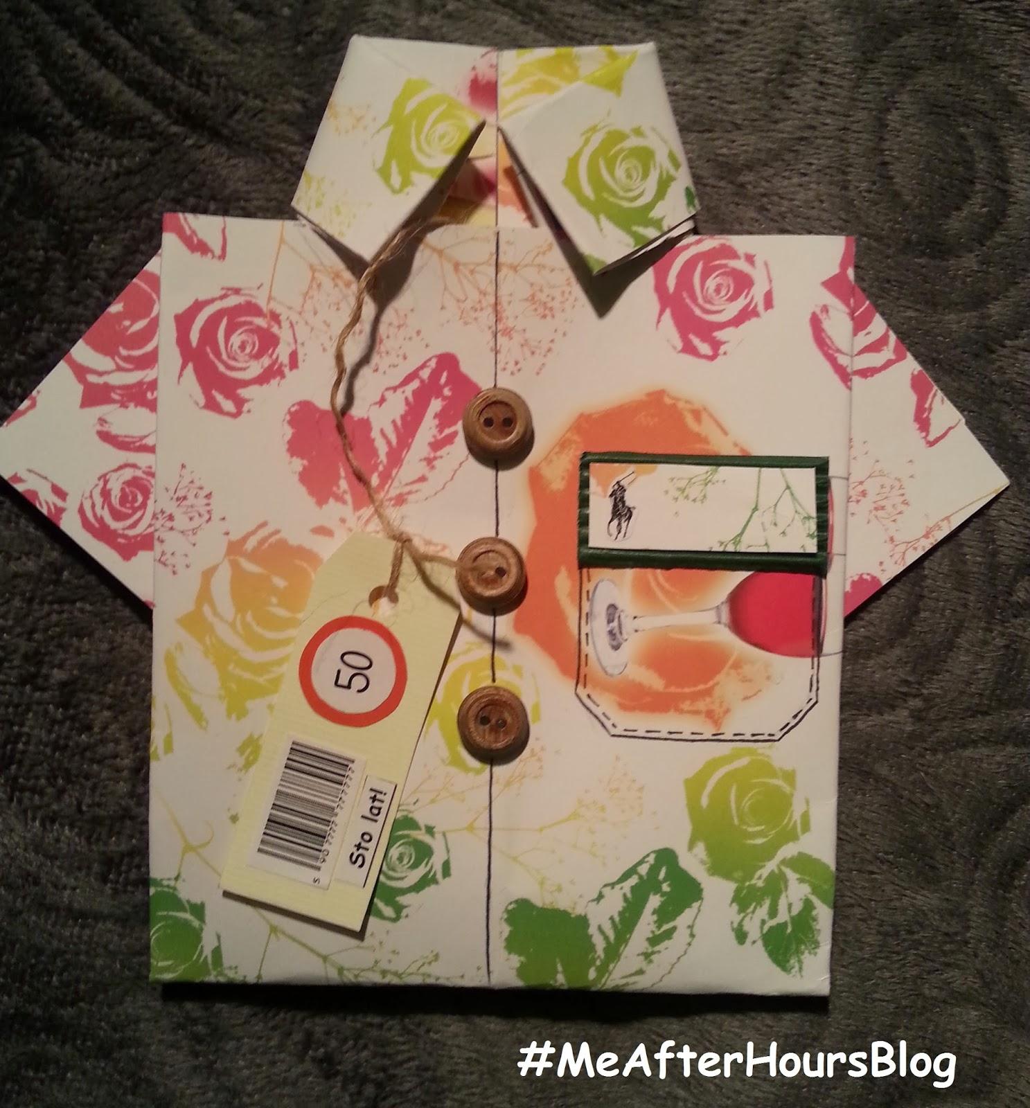 kartka w kształcie koszuli MeAfterHoursBlog