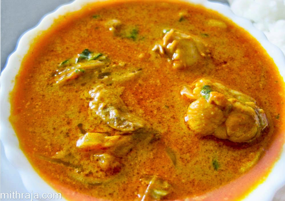 How to prepare Chicken curry with coconut milk · Mithraja.com