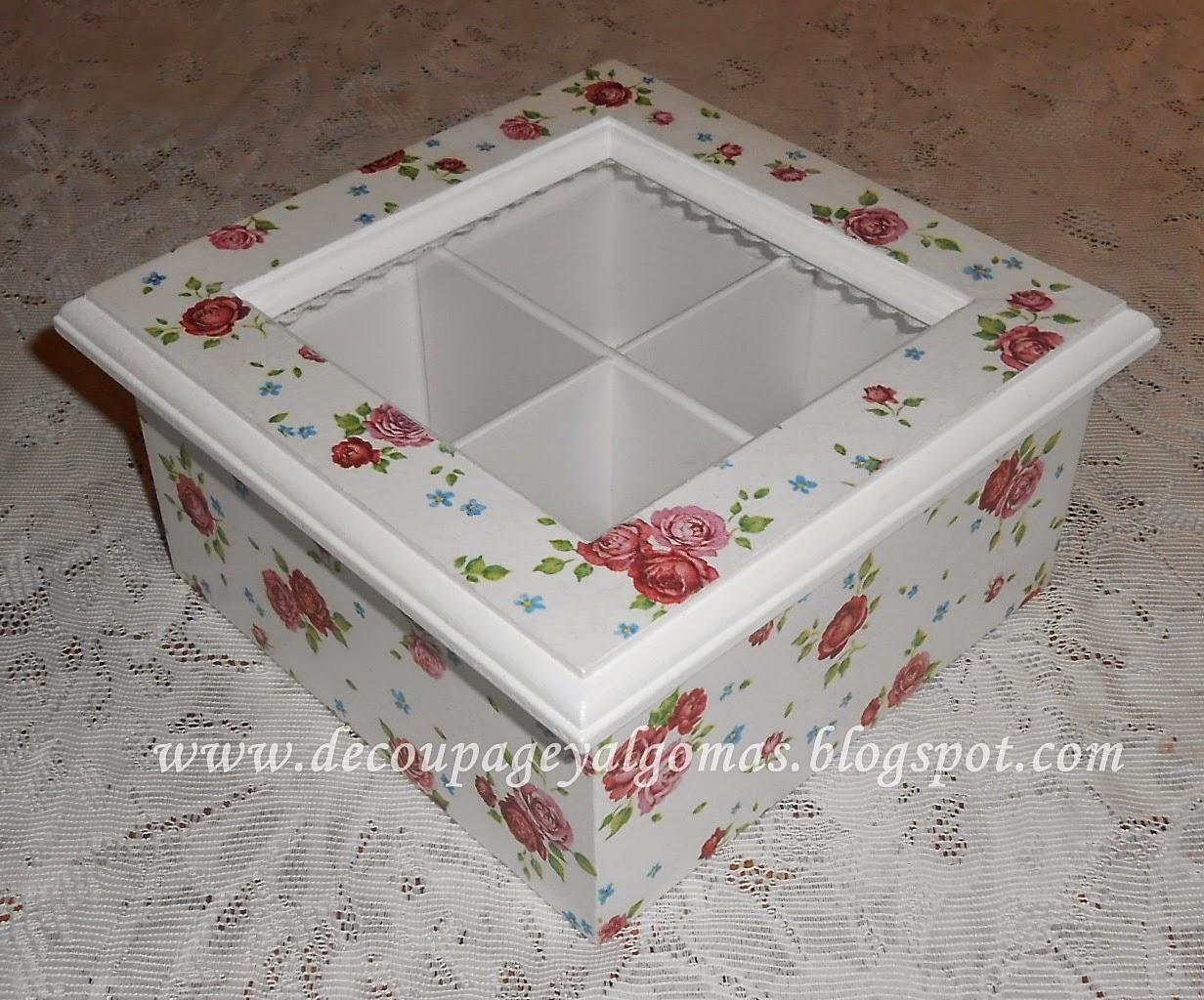 Caja de Té de 4 Divisiones Con