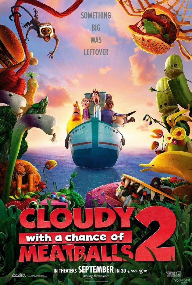 ตัวอย่างหนังใหม่ : Cloudy with a Chance of Meatballs 2 (มหัศจรรย์ของกินดิ้นได้) ซับไทย  poster