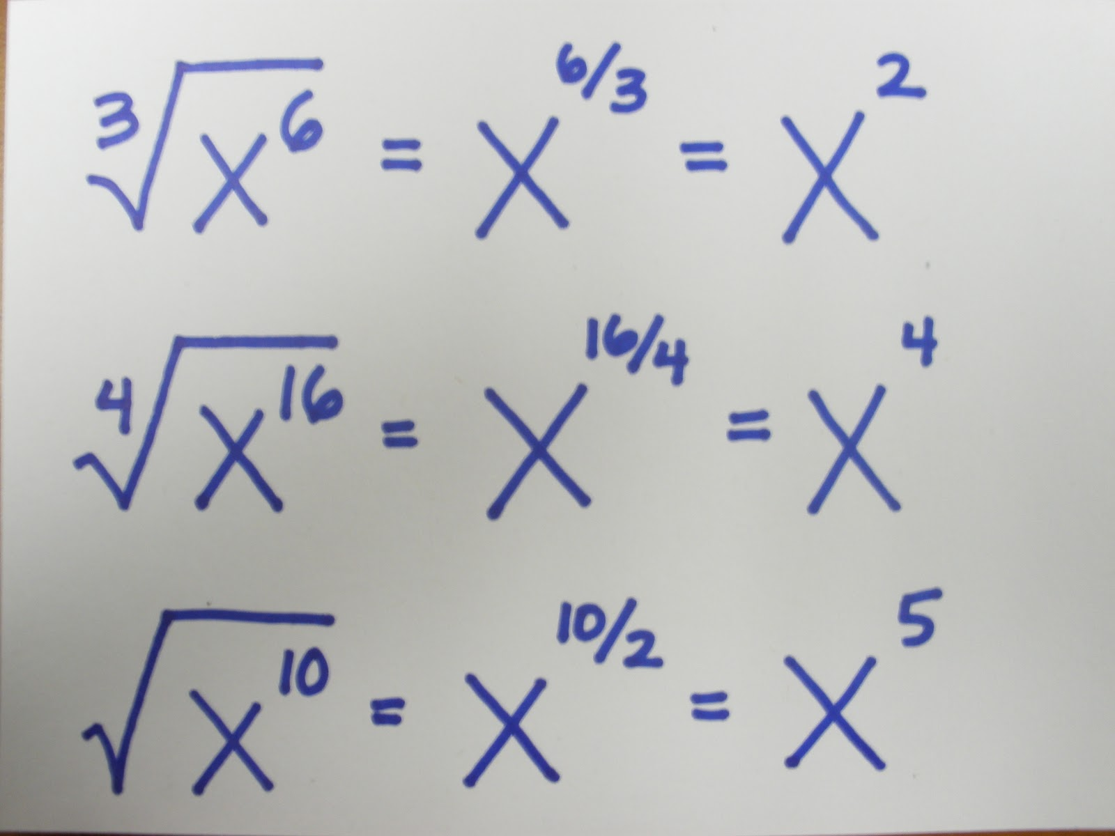 how to move exponent down