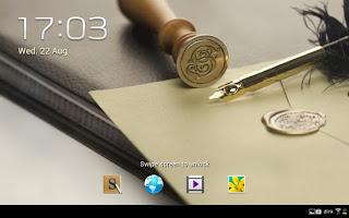 Samsung Galaxy Note 10.1-  lockscreen