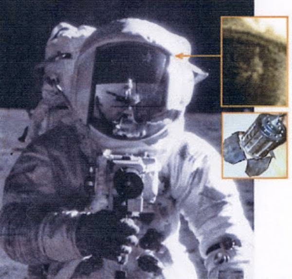 Object on Visor Conspiracy NASA space program moon landing controversy science astronomy space astronauts apollo