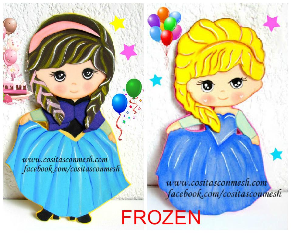 C mo hacer figuras de frozen paso a paso cositasconmesh - Como hacer figuras de fieltro paso a paso ...