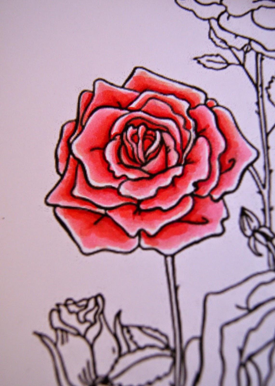 Imagenes De Rosas Para Dibujar - 3 formas de dibujar una rosa wikiHow