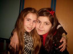 Con mi amiga, mi hermana del alma.
