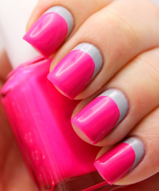 UÑAS NEÓN - NEÓN PINK NAILS - DECORACIÓN DE UÑAS ROSA NEÓN - UÑAS FUCSIA vía http://xn--uasmanosypies-ikb.blogspot.com/2014/03/unas-neon-neon-pink-nails-decoracion-de.html